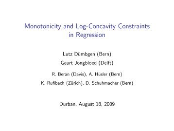 Monotonicity and Log-Concavity Constraints in Regression