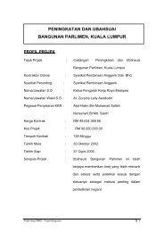 Cadangan Peningkatan Dan Ubahsuai Bangunan Parlimen, Kuala ...