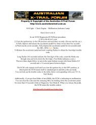 Property & Copyright of the Australian X-Trail Forum http://www ...