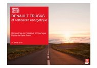 Objectifs Environnement de Renault Trucks - Saint-Priest