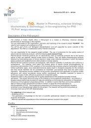 template functiebeschrijving - Doctorat