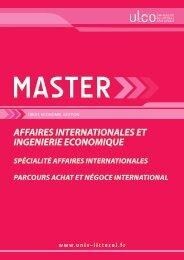 Master Achat & Négoce International - Université du Littoral Côte d ...
