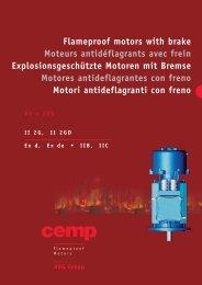 Flameproof motors with brake Moteurs antidéflagrants avec ... - CEMP