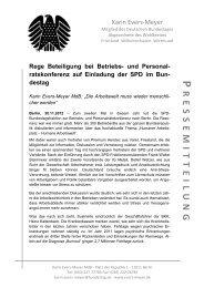 Rege Beteiligung bei Betriebs - Karin Evers-Meyer