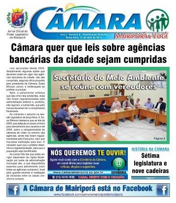 Ano 1 - Edição nº 08 - sexta-feira 12 de Abril de 2013 - câmara ...