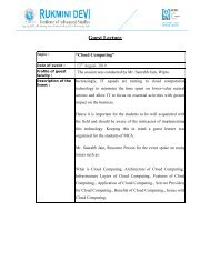 Cloud Computing Guest Lecture Report