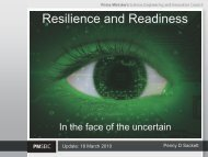 Resilience and Readiness - Chief Scientist for Australia