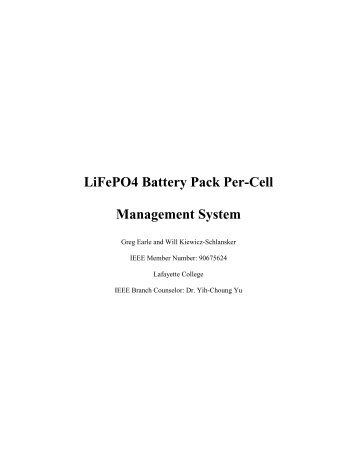 LiFePO4 Battery Pack Per-Cell Management System - Sites at ...