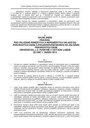 Pravidla pro vkládání peněžitých a nepeněžitých vkladů do ... - UJEP