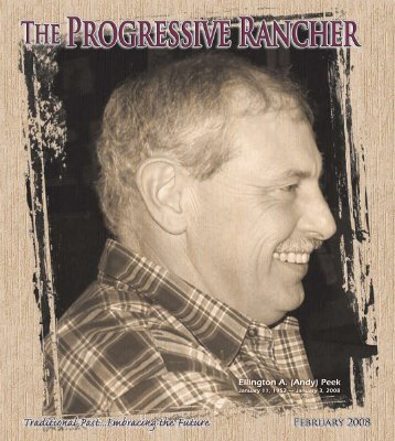 Ellington A. (Andy) Peek - The Progressive Rancher Magazine