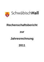 Rechenschaftsbericht zur Jahresrechnung 2011