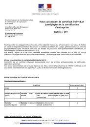 (certiphyto) et la certification d'entreprise - DRIAAF Ile-de-France