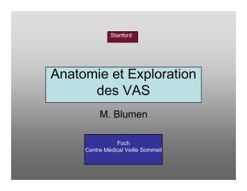 Anatomie et Exploration des VAS - SFRMS