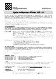 Infoblatt für Lehrpersonen Infoblatt für Lehrpersonen - Bläsertest ...