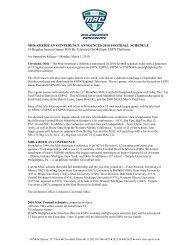2010 MAC Football Composite Schedule - University of Toledo ...
