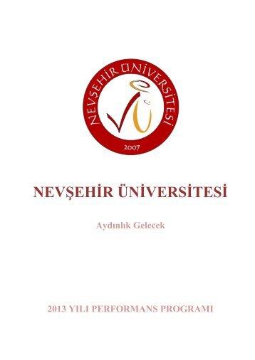 Nevşehir Üniversitesi - Kamuda Stratejik Yönetim