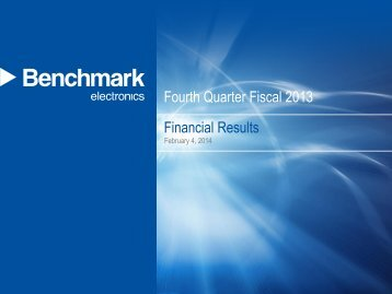 Fourth Quarter 2013 Earnings Presentation Final