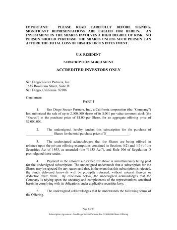 Subscription Agreement Template. Registration Rights Agreement