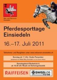 Sonntag, 17. Juli 2011 - Reitverein Einsiedeln