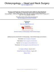 Otolaryngology -- Head and Neck Surgery