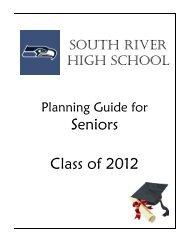 Seniors Class of 2012 - South River High School