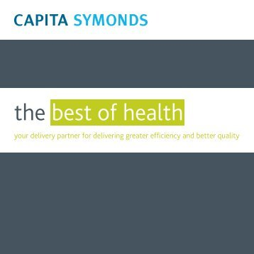 Capita Symonds is a leading services redesign and estates strategy ...