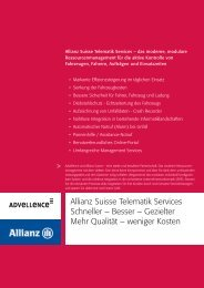 Allianz Suisse Telematik Services Schneller – Besser ... - Advellence