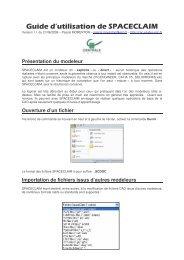 Guide d'utilisation de SPACECLAIM - CAO PDM PLM - Formations ...