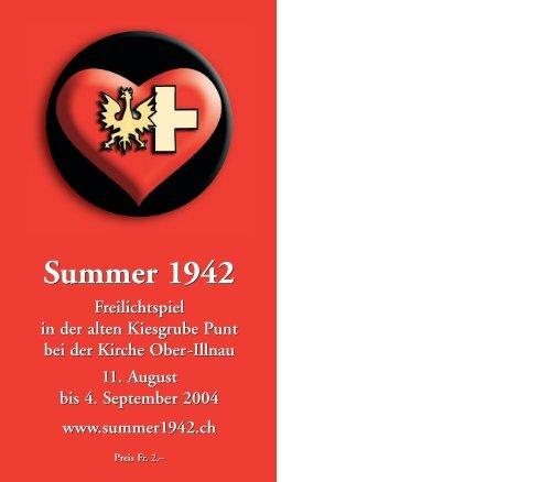 Summer 1942 Freilichtspiel in der alten Kiesgrube Punt bei der ...