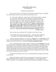 God Who is Holy Part II - Vital Christianity