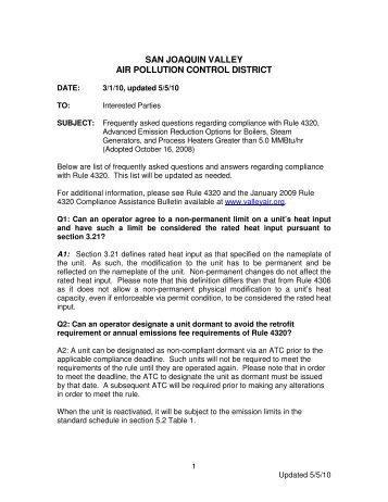 Rule 4320 FAQs - San Joaquin Valley Air Pollution Control District