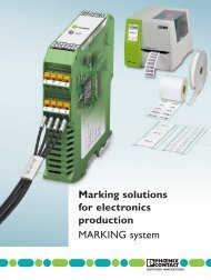 Marking solutions for electronics production ... - Phoenix Contact