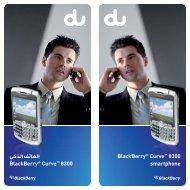 الهاتف الذكي BlackBerry® Curve™ 8300 BlackBerry® Curve ... - Du