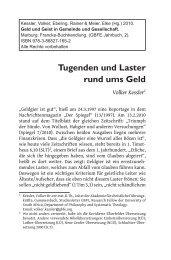 Kessler, Volker – Tugenden und Laster rund ums Geld - GBFE