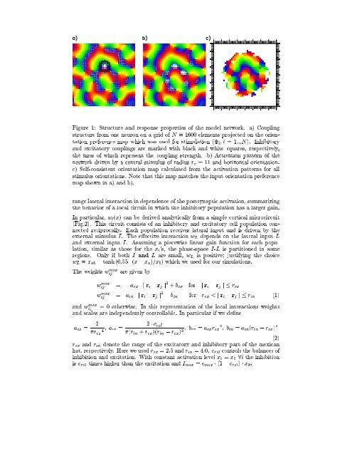Orientation contrast sensitivity from long-range interactions in visual ...