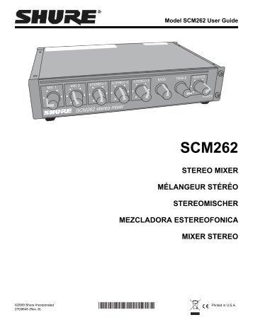 Shure SCM262 User Guide (English) - Pro Music