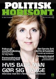 HVIS BARE MAN GøR SIG UMAGE - Konservativ Folkeparti