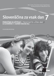 priročnik za učitelja - predstavitev učnih enot