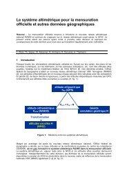 Le système altimétrique pour la mensuration officielle et ... - admin.ch