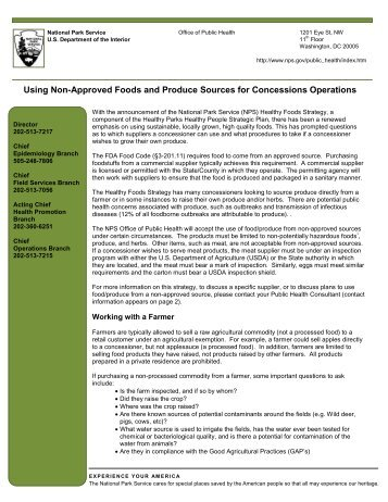 Using Non-Approved Foods and Produce Sources for Concessions ...