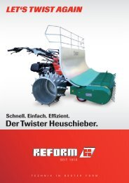 Der Twister Heuschieber. - Reform