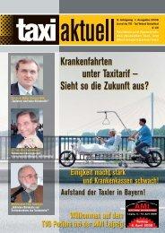 Krankenfahrten Unter Taxitarif — Sieht So Die Zukunft ... - Taxi Aktuell