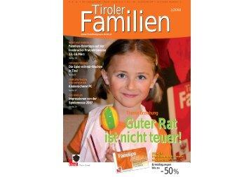 Journal 1/08 - Tirol - Familienpass
