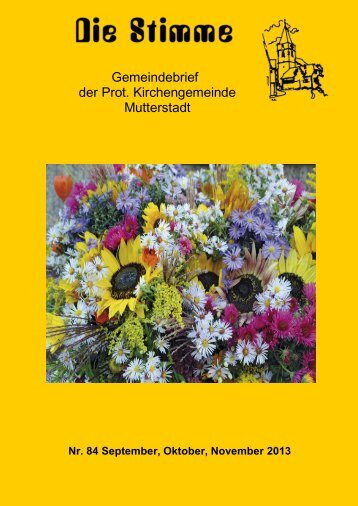 Stimme 84 - Protestantische Kirchengemeinde Mutterstadt