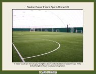 Seaton Carew Indoor Sports Dome UK - Ultra Base Systems