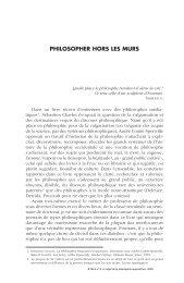 PHILOSOPHER HORS LES MURS - Lycée Chateaubriand
