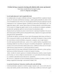 Problem Solving e cooperative learning nella ... - ITI Majorana