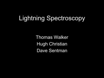 Lightning Spectroscopy