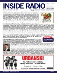 news INSIDE >> Monday, November 15, 2010