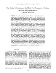 Near-Surface Attenuation and Site Effects from Comparison of ...